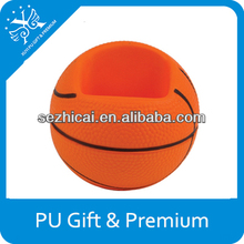 Promotion gifts basketball mobile phone holder ball toy hand cell phone holder stress soft phone holder