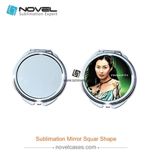 DIY Printable sublimation folding metal compact sublimation wall mirror
