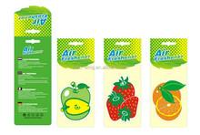 Customize paper hanging air freshener