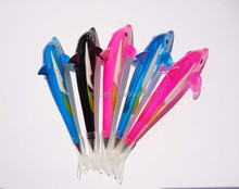 Hot selling novelty dolphin character animal ball pens