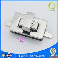 Q-0721 locks for handbags bag twist lock beautiful bag hardware