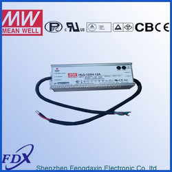 Meanwell 12v120w LED driver,street light driver HLG-120H-12A,5 years warranty