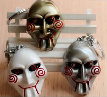 2015 Hot sell Marvel Metal keychains keyring SAW SKULL mask wholesale