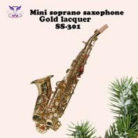 Mini soprano saxophone gold lacquer SS-301