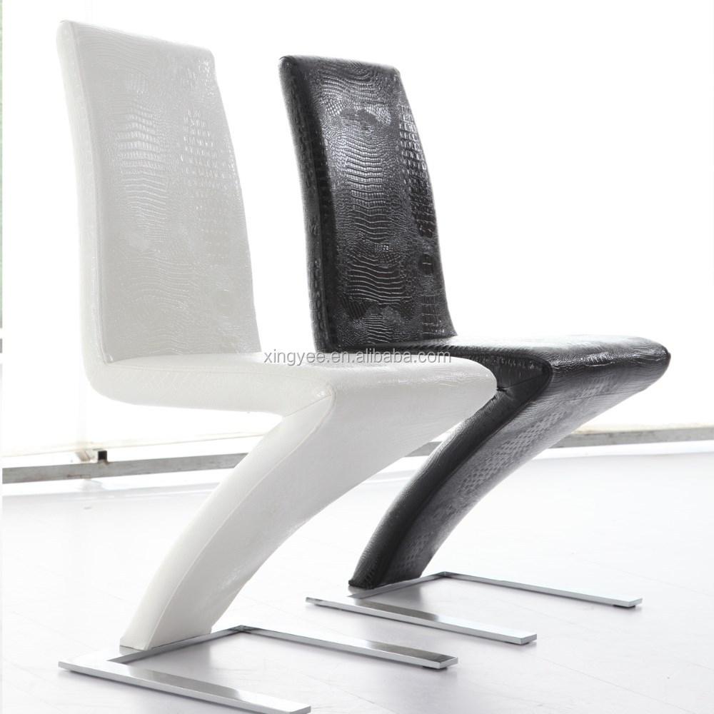 Moderne table manger et une chaise meubles noir italien v ritable en cuir d - Chaise en cuir veritable ...