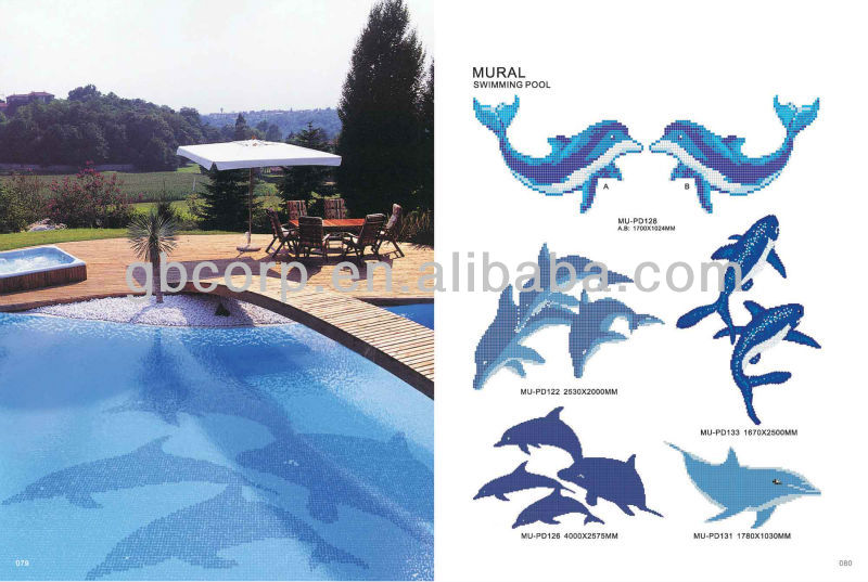 Swimming Pool Tile Dolphin Design Mu Pd126 Buy Swimming Pool Tile Dolphin Swimming Pool Pool