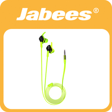 Jabees top quality waterproof colorfull in ear earphones with mic and remote on headset body