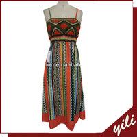 New Design fashion spaghetti strap kaftan dress