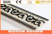 well polished popular design marble border,water jet flooring border marble
