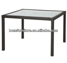Outdoor Wicker Square Table For 4 People