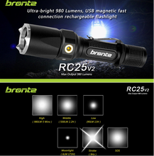 Rechargeable 980 Lumens CREE XM-L2 Hunting LED Flashlight Tactical Lights with gun mount