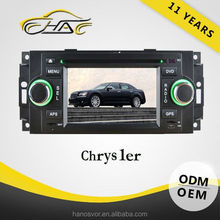 wholesale price Touch screen car radio gps for jeep chrysler rearview camera for free
