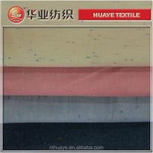 Hilado de algodón 100% teñido de cambray para para camisas tela / color nep tela