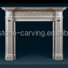 Simple Tile Stone Carved Fireplace Mantel BSF14