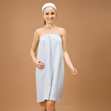 blue modal tube top bathrobe/ women's sleepwear
