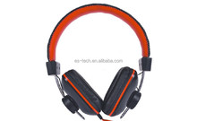 Stereo Leather Headphone with Deep Bass Sound