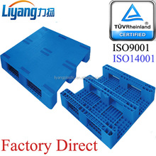 High density polyethylene (HDPE) regenerated material Pallet type Rack able, 4-ways entry by injection molding in one piece