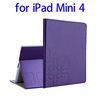 Directly Factory Embossed Flip Smart Leather case for ipad mini 4 case
