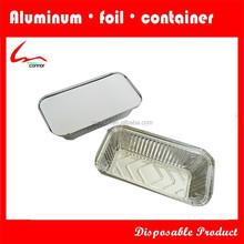 No6 Eco-Friendly Disposable Hot Sale Rectangular Aluminium Foil Container For Restaurant