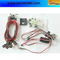 RC car controlled/simulated and flashing light system