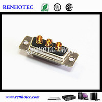 High Power 3W3 Male Solder Type D-sub Connector