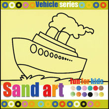 Boat sand art pictures for birthday party and school