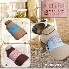 Durable Suede Soft Woolly Fleece Lining Cute Metal Dots Skull Fashion Dog Coat