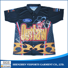 Functional Racing Shirts Sublimated Pit Crew Jerseys
