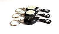 retractable reel id card holder/retractable id badge reels/retractable keychain