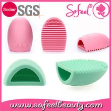Sofeel Brush Egg Makeup Brush Cleaner Scrubber Finger Tool Factory Price