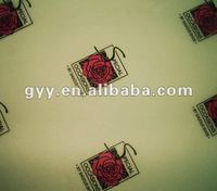 Romantic white transparent rose pattern gift wrapping paper/ tissue paper