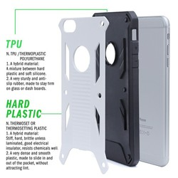 2 in 1 PC TPU armor shockproof mobile phone case for iphone 6 plus new products