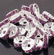 2012 Shamballa earring fittings!Best price!DIY crystal spacer 6mm,loose crystal rhinestone spacer beads rondelle shape!