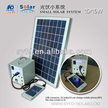 light and handy mini solar home system for home lighting