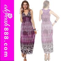 Popular design bohemia style summer beach wear women maxi dress for wholesale