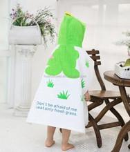 100% cotton kids printed bath towel suit