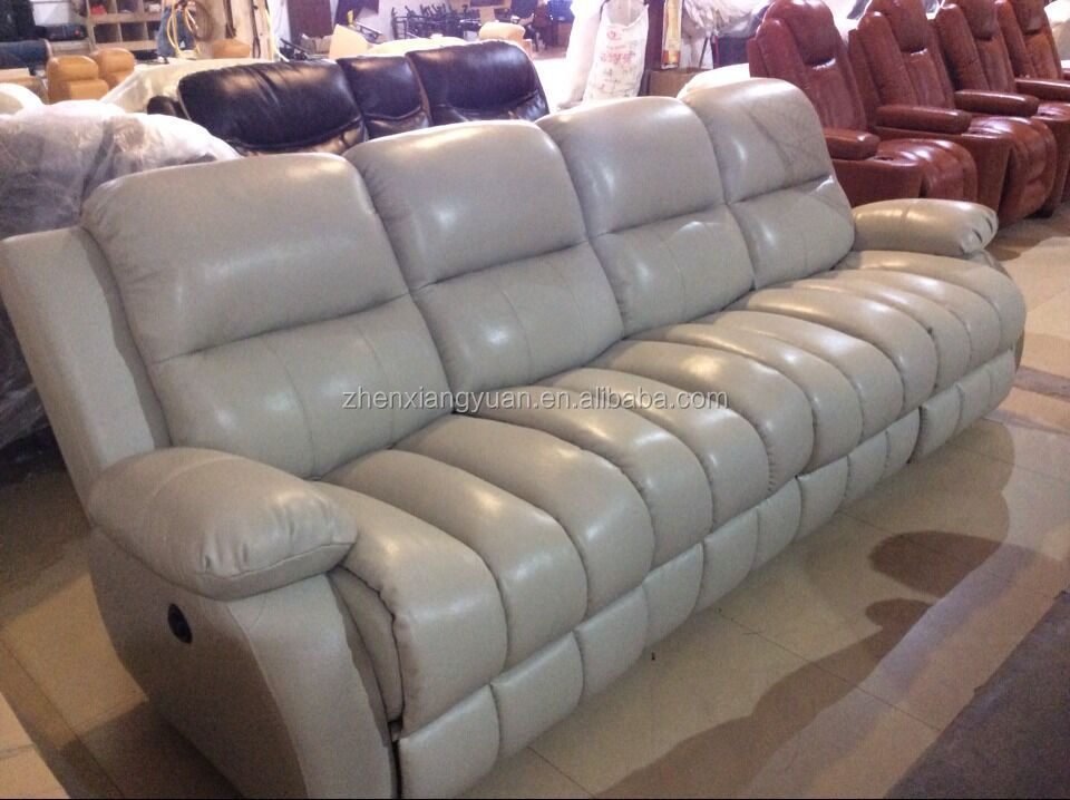 2015 Living Room Furniture Grey Leather Recliner Sofa 4 Seater - Buy Recliner 4 Seater,Recliner ...