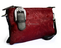 Horse hair leather clutch purses bags for women UK