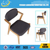 A012 high back upholstery wood hotel chairs wood curved back chair