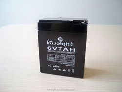 small rechargeable storage battery 6v 7ah