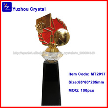 baratos hechos a mano de cristal trofeo de metal