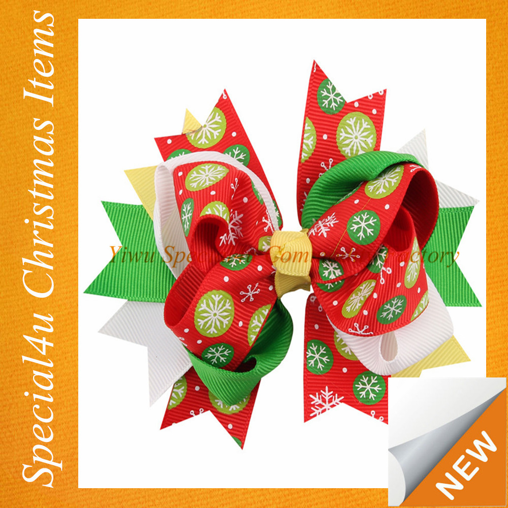 Hot sale wholesale christmas hair bow ribbons and bows for