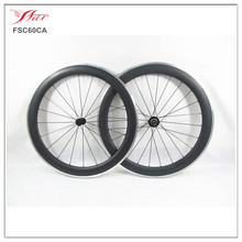20.5mm/23mm/25mm wide Cheap carbon wheels Farsports 700C 60mm road clincher Aluminum carbon bicycle Wheelset 3k matt + Bitex hub
