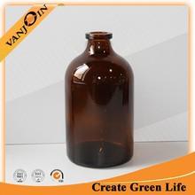 Amber Pharmacy Glass Bottle 100ml For Injection