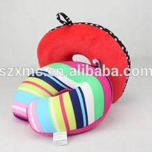 Soft Terry Cloth Children Neck Roll Pillow / PillowCase with Hole