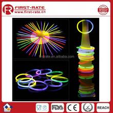 RoHS Standard Safe used glow in dark slap bracelet stick
