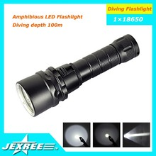 Jexree 1000LM XM-L T6 LED Underwater 100M Scuba Diving Flashlight Torch+1X18650+Charger