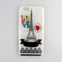 Sublimation blank phone case wholesale for SON X8,Eiffel Tower model