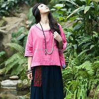 Smalll wholesale original design bohemian cotton fashion blouse and skirt