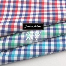 100% Cotton Spring/Summer Shirting & Dress Fabric, Cotton Check Fabric